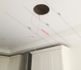Speaker mounting location in relation to joists